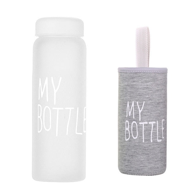 My Bottle 500ml Transparent Water Bottle For Drinking