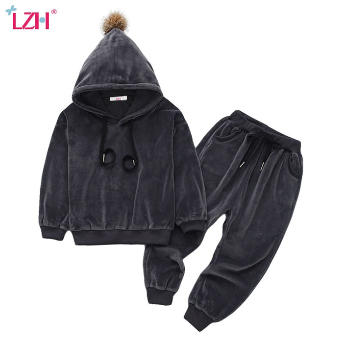 Children Clothing Autumn Winter Girls Clothes Hoodies+Pants Outfit Sets