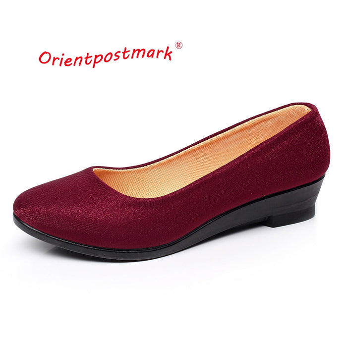 Women Ballet  Sweet Loafers Slip On Wedges Shoes