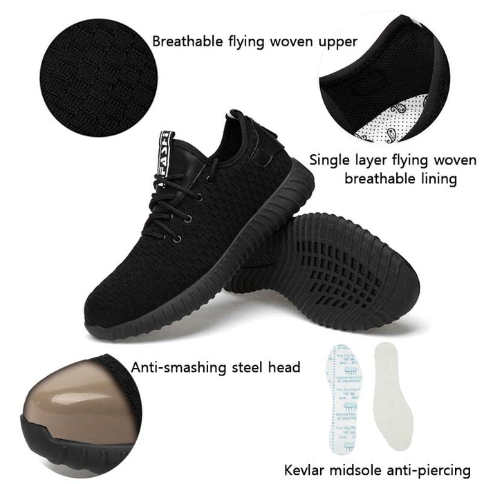Fashion Safety Breathable Anti-smashing Steel Toe Caps Men's Work Shoes
