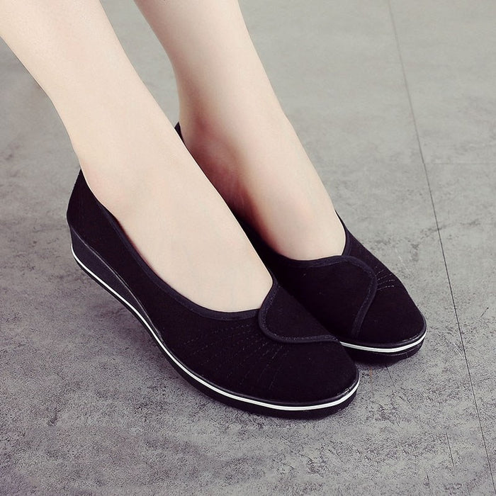 Women Loafers Soft Slip On Canvas Flats Shoes