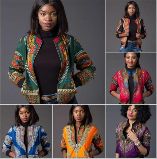 AFROFASHION Sexy Womens Bomber Jacket