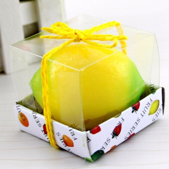 Lemon Peach Fruit Scented Candle Home Decoration