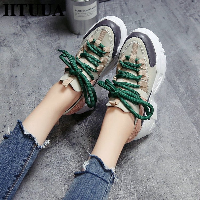 Casual Comfortable Platform Ladies Trainers Sneakers
