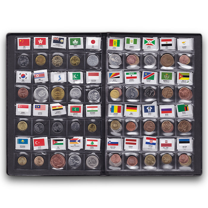 World Coins lot 60 Different country national flag Album Collection 100% original real coin Starter Kit