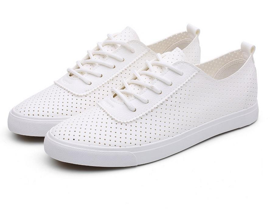 Hollow Out Breathable Casual White lace-up Shoes Female Sneakers