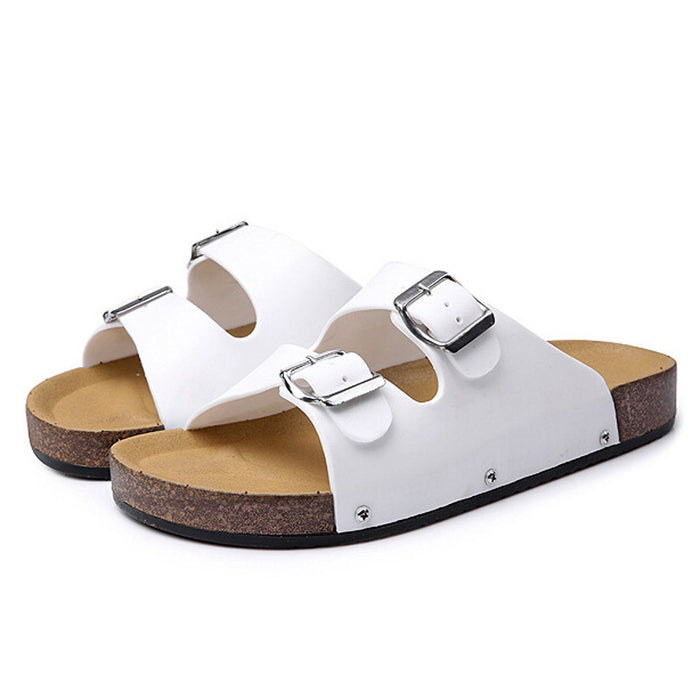 Summer Open Toe Leather Casual Beach Chic Men Flat Sandals Slippers Shoes