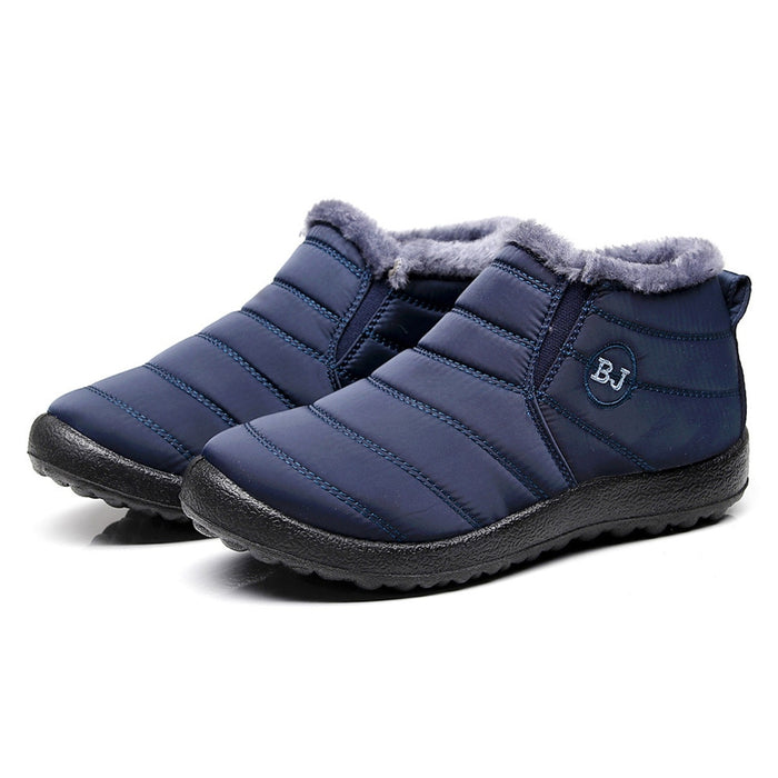 New Fashion Men Winter  Solid Color Snow Boots