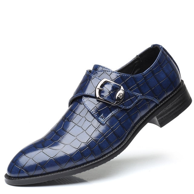Crocodile Pattern Leather Men's Italian Dress Shoes
