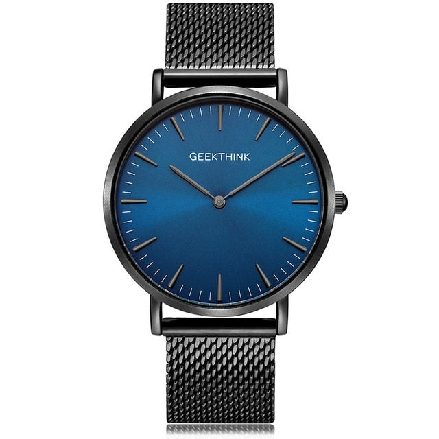 Ultra Thin Quartz Watch Casual Black Japan quartz-watch