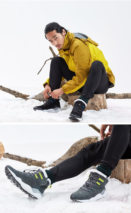 Men Winter Work Shoes Men Footwear Fashion Rubber Ankle Sneakers