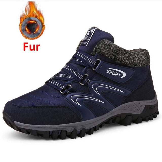 New Men Winter Fur Warm Casual Boots
