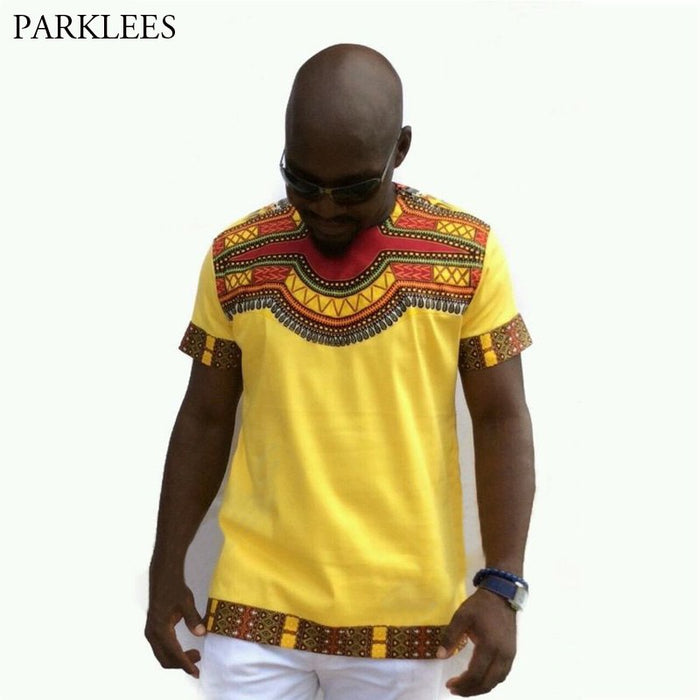 African Dashiki T-shirt Men 2018 Fashion Casual Short Sleeve Tshirt Men Hip Hop Streetwear Tops Tees Brand African Clothing XXXL