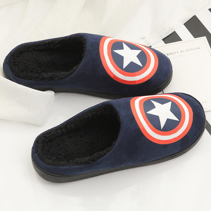 Home slippers men fur fun slippers