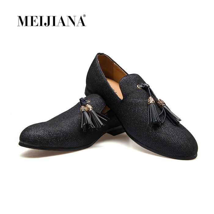 Handmade Metal fashion gold Tassel of Loafers Bottom Loafers