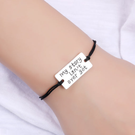 Silver My Story is not over yet  Charm Bracelets for Women
