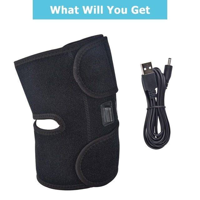 Infrared Heated Knee Brace Wrap Support Massager