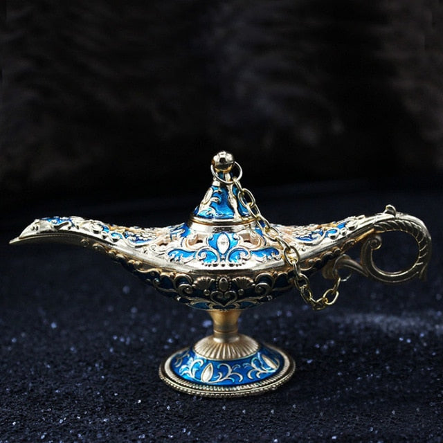 Aladdin Oil Lamp Metal Novelty Light Vintage Arabian Light Home Decoration