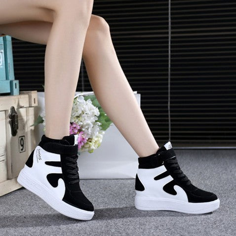 High Top Shoes Emery Leather Sneakers