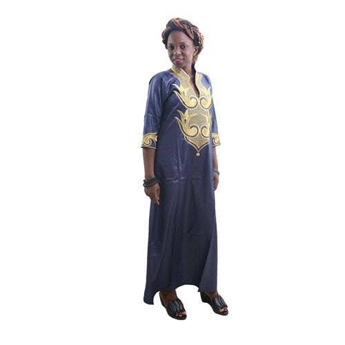 AfroFashion Dashiki African Cotton Dresses Top Dress for Women