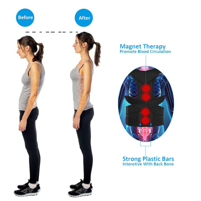 Magnetic Therapy Adjustable Posture Corrector Brace