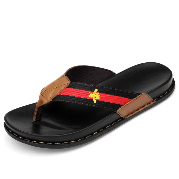 Genuine Leather Gucci Slippers Designer Flip Flops