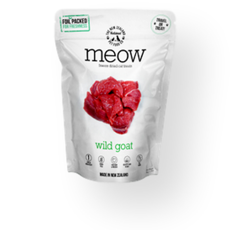 Meow Freeze Dried Cat Treats Wild Goat