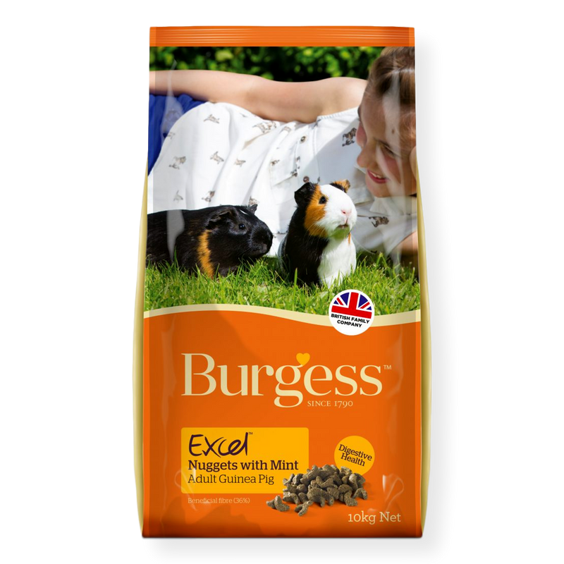 Burgess Excel Adult Guinea Pig Food Nuggets with Mint 2kg