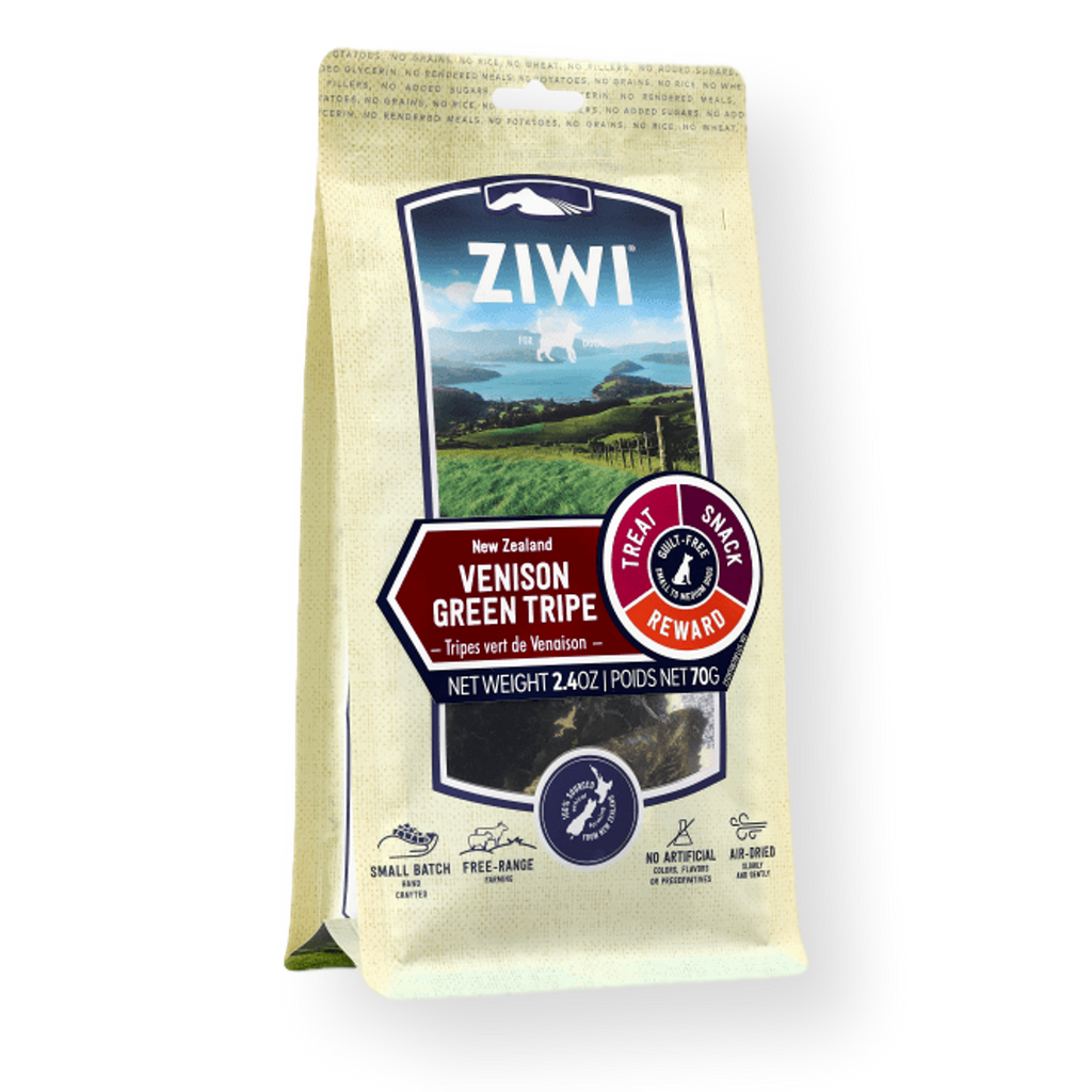 Ziwi Peak Venison Green Tripe Dog Treats 70g
