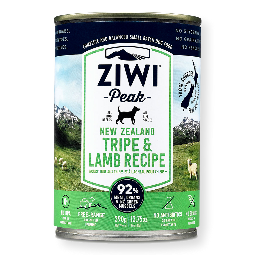 Ziwi Peak Canned Tripe & Lamb Dog Food 390g