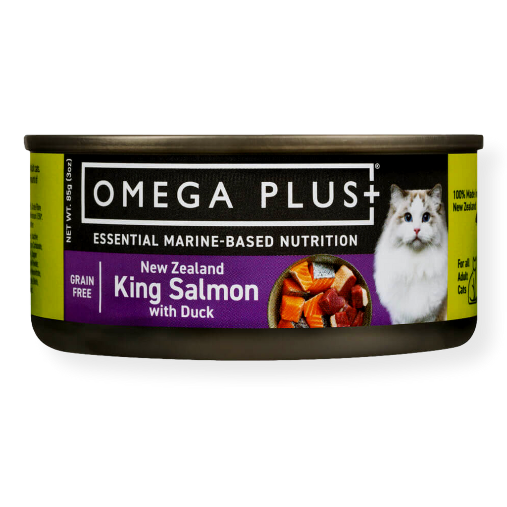 Omega Plus Canned Cat Food King Salmon with Duck 85g