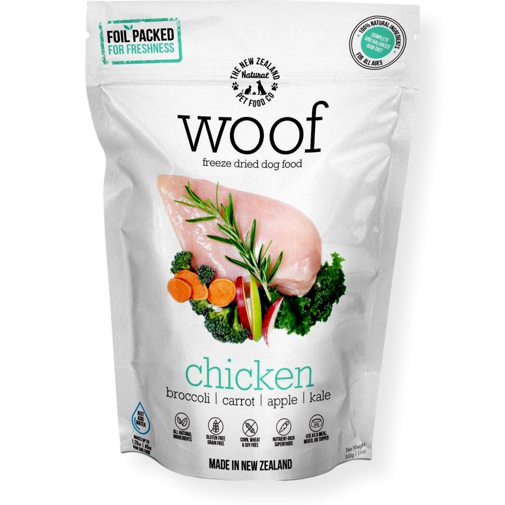 WOOF Freeze Dried Dog Food Chicken