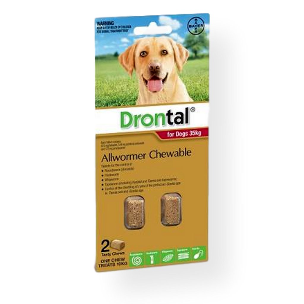 Drontal Dog Worming Chewable Tablets