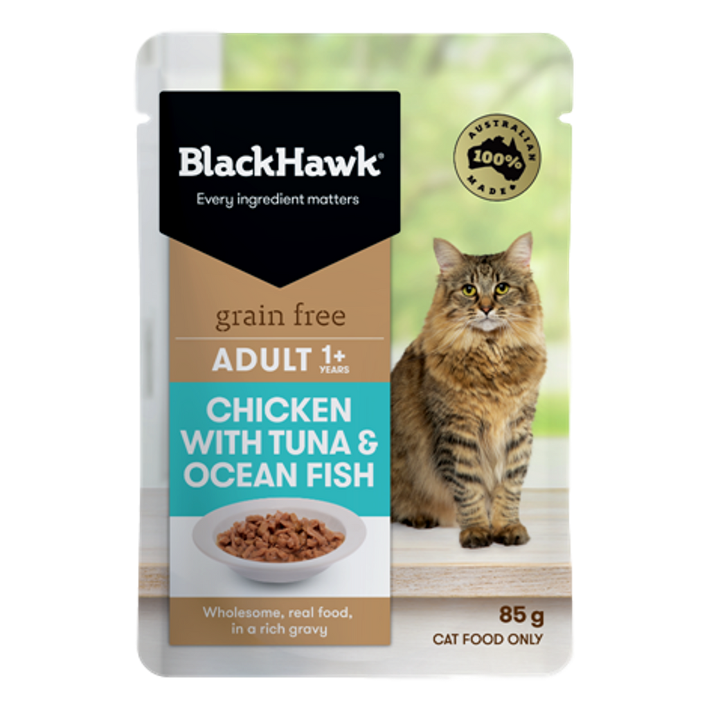 Black Hawk Chicken & Tuna Wet Cat Food Pouches 85g