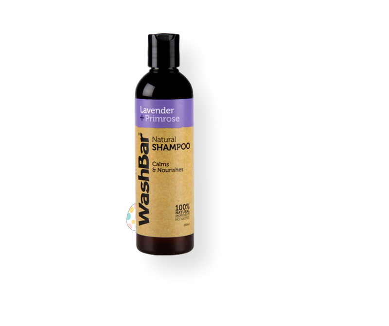 WashBar Natural Lavender & Primrose Shampoo 250ml