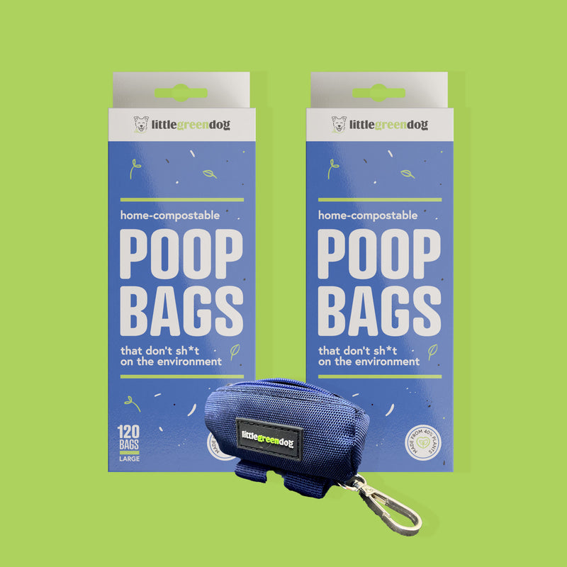 Barry the Bone Felt Poop Bag Holder