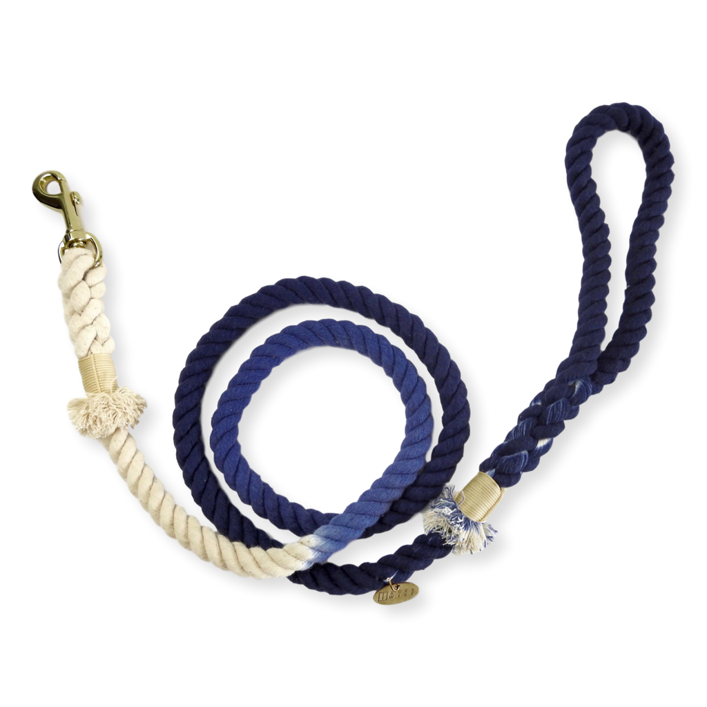 Tack & Twine Standard Cotton Leash Midnight Blue
