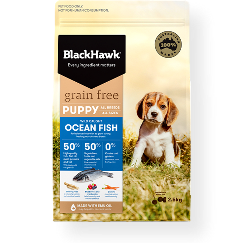 Black Hawk Ocean Fish Grain Free Puppy Food