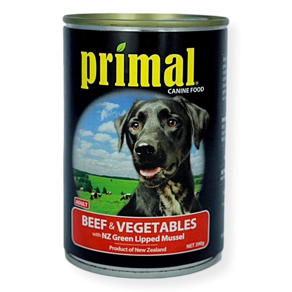 Primal Beef And Vegetables Dog Food 395g