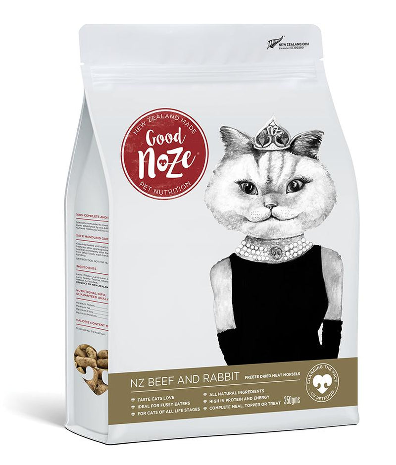 Goodnoze NZ Beef & Rabbit Freeze Dried Cat Food 350g