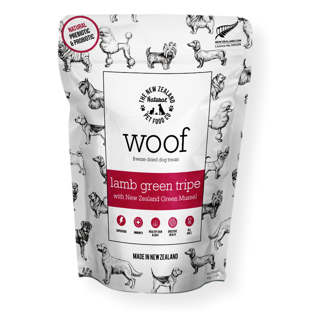 Woof Lamb Green Tripe & Mussel Treats 50g
