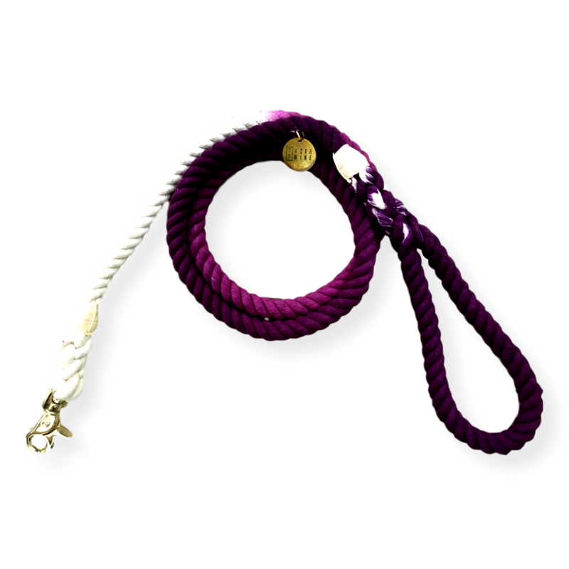 Tack & Twine Standard Cotton Leash Plum