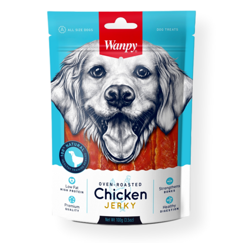 Wanpy Chicken Jerky Dog Treat 100g