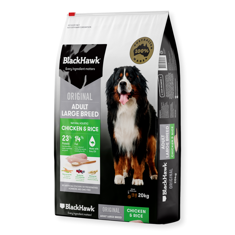 Black Hawk Chicken Large Breed Adult Dry Dog Food 20kg