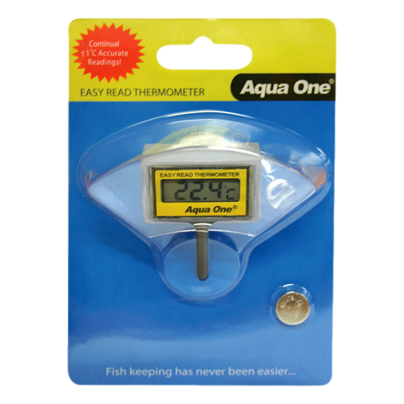Aqua One Easy Read LCD Internal Digital Thermometer Digital Thermometer