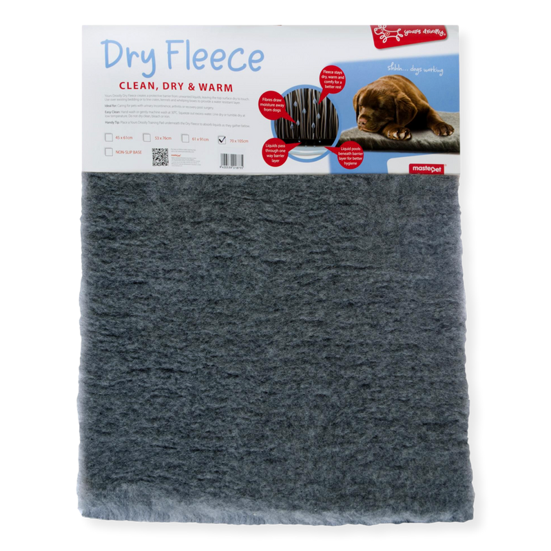 Yours Droolly Super Fleece Bed Grey