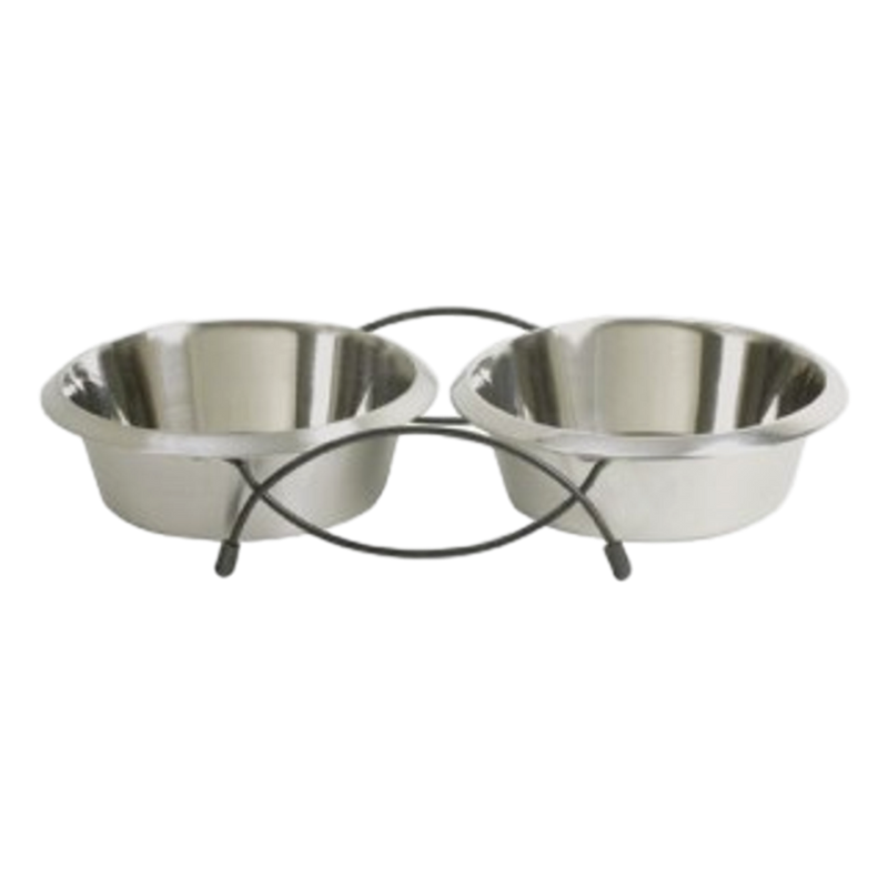 Prima Stainless Steel Double Diner 2 x 230ml Bowls