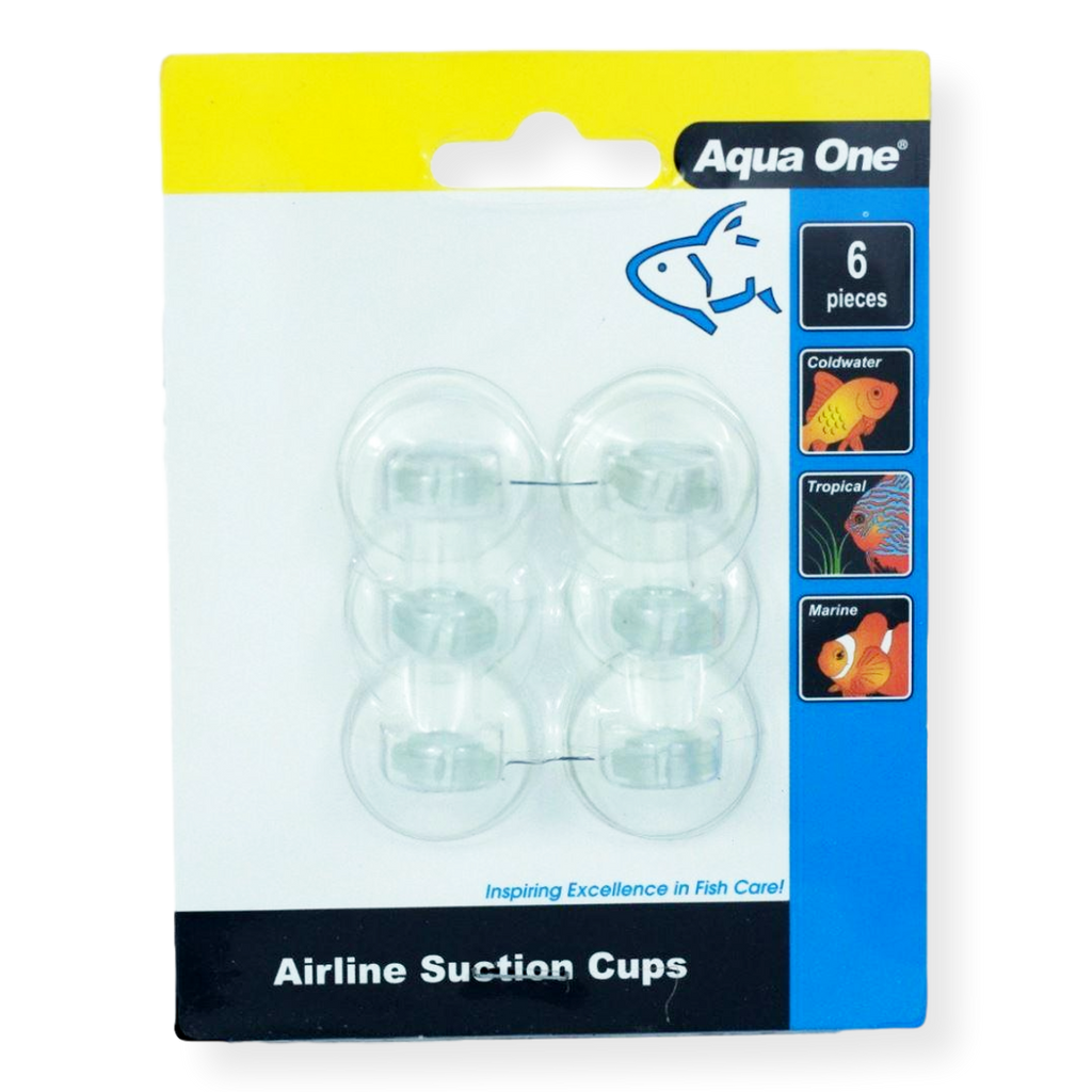 Aqua One Air Line Suction Cups 6pack