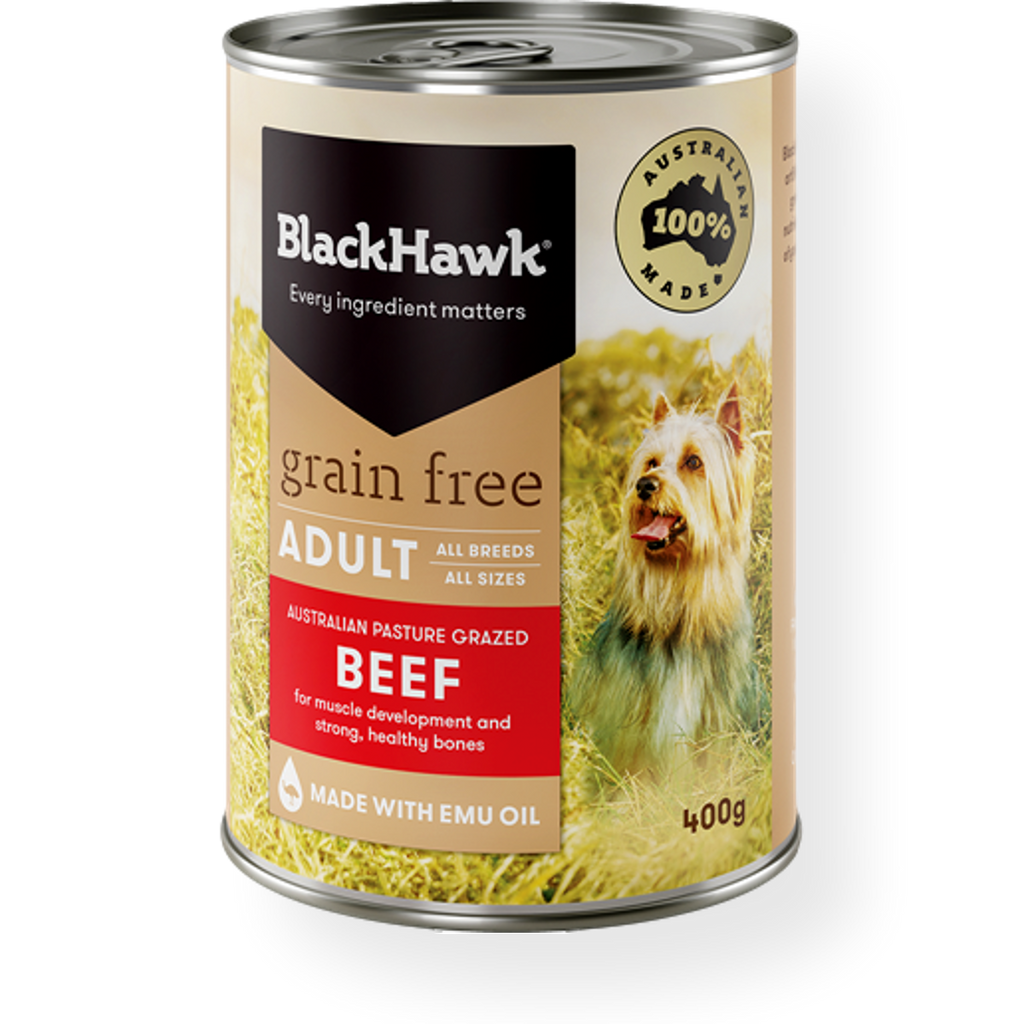 Black Hawk Grain Free Beef Wet Dog Food 400g