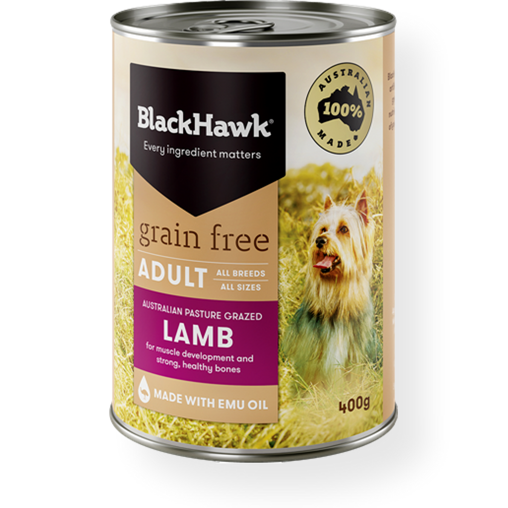 Black Hawk Grain Free Lamb Wet Dog Food 400g